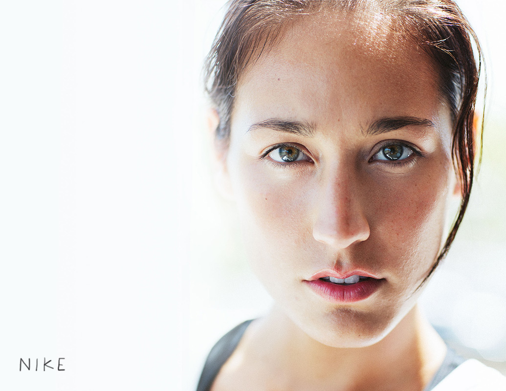 Portrait of a woman at the gym for Nike women's training